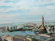 Genova-da-Righi-in-estate,-2016,-olio-su-tela,-70x40